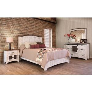 Pueblo White 4 PC Queen Bedroom Set