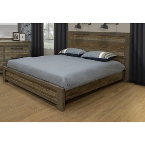 LOFT BROWN QUEEN PLATFORM BED