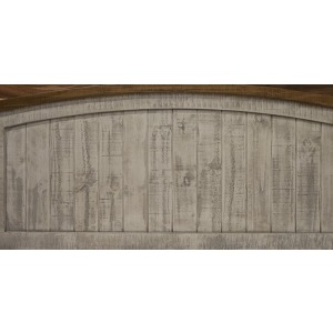Pueblo Gray Queen Panel Headboard