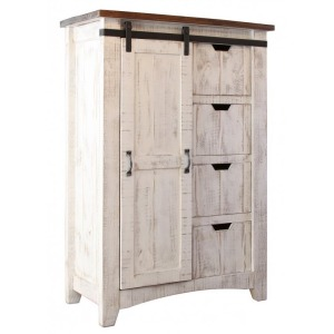 Pueblo 4 Drawer, 1 Door Chest