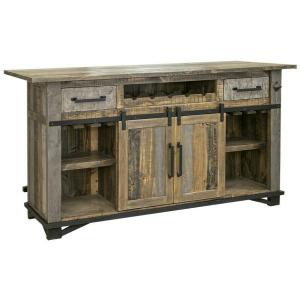 Loft Brown 2 Drawers & 2 Doors Bar