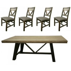 Loft Brown 5 PC Dining Set