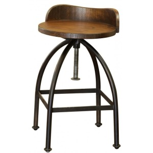 "24-30"" Adjustable Height Swivel Barstool"