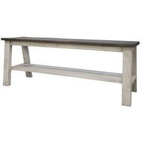 Stone Breakfast Bench with Shelf