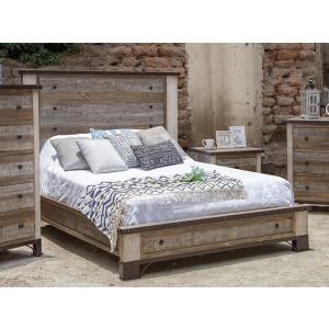 Antique Queen Platform Bed