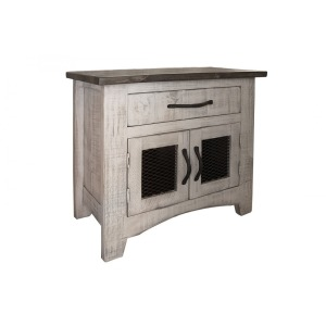 PUEBLO GRAY NIGHTSTAND