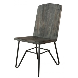 Solid Parota Chair w/ Iron Base in Moro