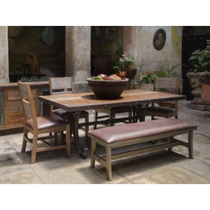 Antique Multicolor 6 PC Dining Set
