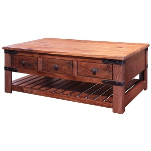 Parota Cocktail Table w/6 Drawers