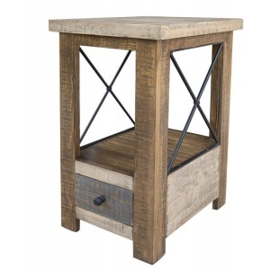 Andaluz 1 Drawer Chair Side Table