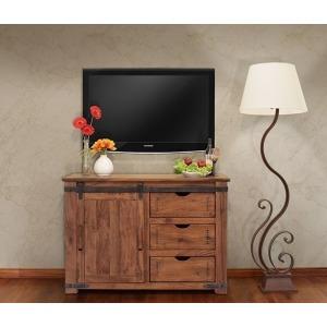 "Parota 50"" TV Stand w/3 Drawer, 1 door w/2 shelves"
