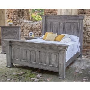 Terra Gray Queen Panel Bed
