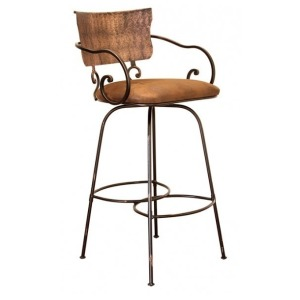 "30""SWIVEL HAND FORGED BARSTOOL"