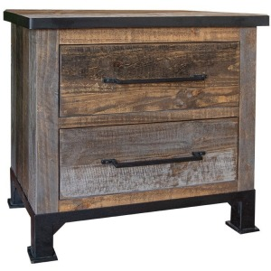 Antique Gray 2 Drawers Night Stand