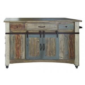 Antique Kitchen Island w/3 Drawers