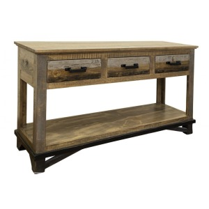 LOFT BROWN SOFA TABLE