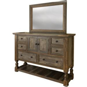 Stone Brown Dresser & Mirror