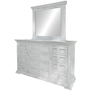 Terra White Dresser & Mirror