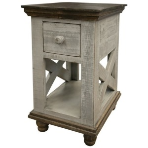 Florence Gray Chair Side Table