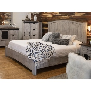 Pueblo Gray Queen Platform Bed