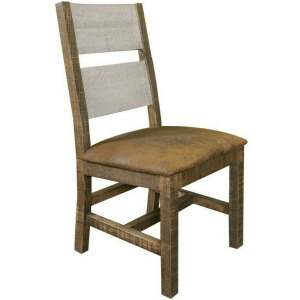 Agave Solid Wood Chair w/Fabric Seat