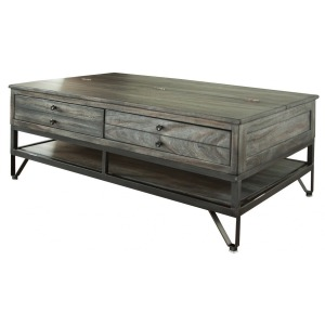 Moro Cocktail Table w/2 Drawer & Storage