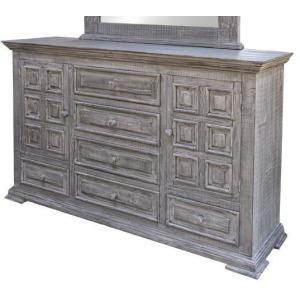 Terra Gray 6 Drawers 2 Door Dresser