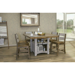 Pueblo Gray 7 PC Counter Height Dining Set