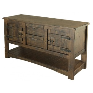 Sofa Table w/2 Drawer & 2 Doors