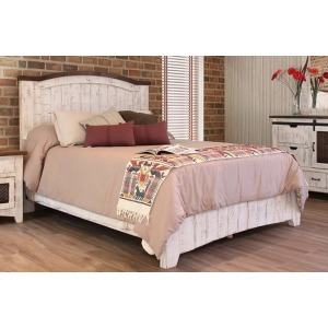 Pueblo White Queen Platform Bed