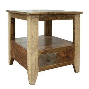 Antique End Table w /2 Drawers