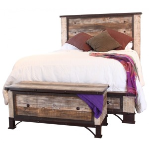 Antique Queen Platform Bed