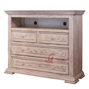 Terra White 4 Drawer Media Chest