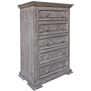 Terra Gray 5 Drawers Chest