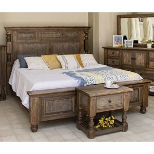 Stone Brown Queen Bed