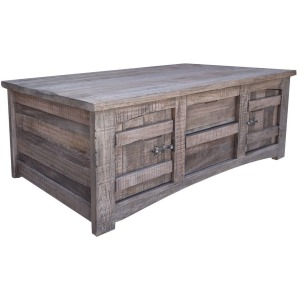 San Antonio Cocktail Table w/4 Drawer & 4 Doors