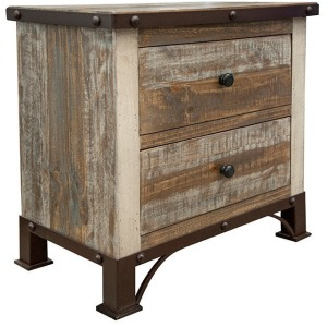 Antique 2 Drawer Nightstand