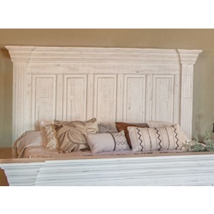 Terra White King Headboard