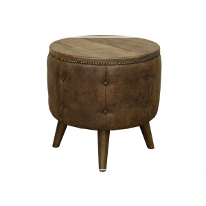 Maya End Table with Cushion Base