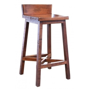 "30"" Stool - with wooden seat & base - Brown finish"