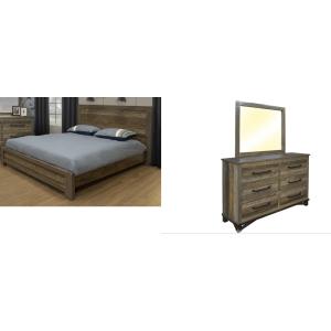 Loft Brown 3PC Queen Bedroom Set