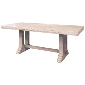 "Terra 79"" Wooden Table top & base - White finish"