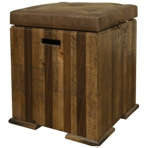 Maya Trunk Chair Side Table w/ Cushion Top