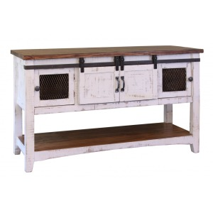 Pueblo White Sofa Table