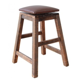 "Antique 24"" Swivel Barstool"