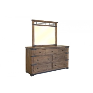 Parota 7 Drawer Dresser & Mirror