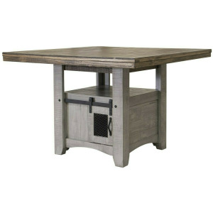 Pueblo Gray Counter Height Table Top & Base