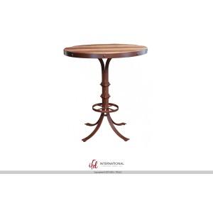 Bistro Table Base w/Footrest & Shelves