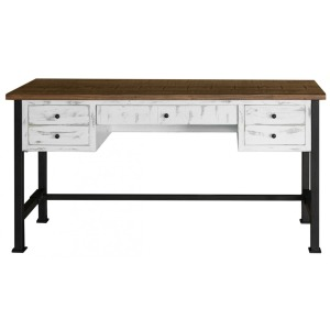 Pueblo White Writing Desk - Reclaimed White Finish