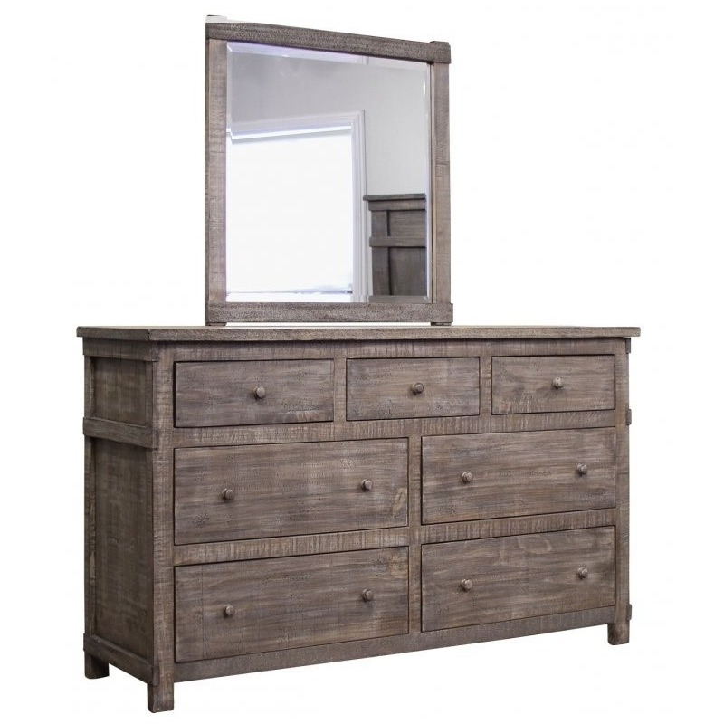 San Angelo Dresser And Mirror By, Furniture San Angelo